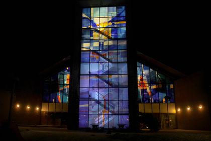 Glaskunst i Bryne kyrkje