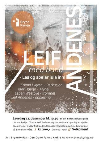 Leif Andenes med band - les og spelar jula inn